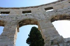 普拉罗马圆形剧场克罗地亚 免版税库存照片