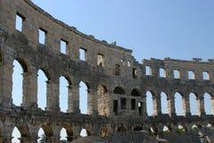 普拉罗马圆形剧场克罗地亚 库存图片