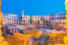 普拉,克罗地亚罗马圆形剧场。 免版税图库摄影
