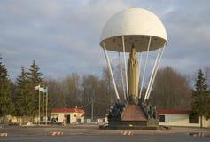 普斯克夫空降师的纪念碑 免版税库存图片