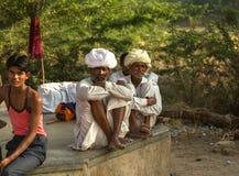 普斯赫卡尔市场的印度人 库存图片