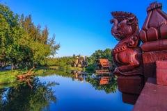 普朗山姆Yod,华富里在古老泰国, Samutparkan,泰国 库存图片