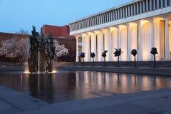 普林斯顿大学夜视图 免版税库存照片