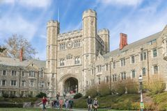 普林斯顿大学是一所私有常春藤盟校大学在新泽西,美国 免版税库存图片