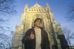 从普林斯顿大学, NJ的一名男学生 免版税库存照片