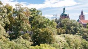 普沃茨克老镇在波兰 免版税库存照片