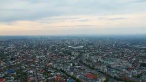 普洛耶什蒂市,罗马尼亚,东边空中英尺长度 股票录像