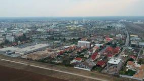 普洛耶什蒂市,罗马尼亚,北边空中英尺长度 影视素材