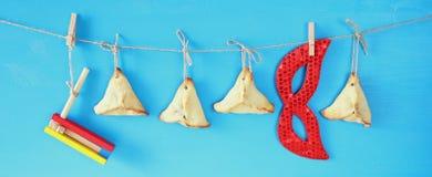 普珥节庆祝概念& x28; 犹太狂欢节holiday& x29; 免版税图库摄影