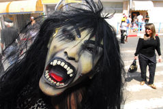 普珥节庆祝- Adloyada游行在以色列 免版税库存照片