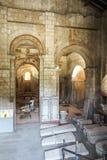 普瓦捷,法国- 2016年9月12日:圣约翰Poitie内部Baptistere圣徒吉恩洗礼池  免版税库存图片