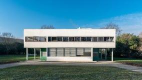 普瓦西-别墅Savoye -主要房子 库存图片