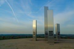 普福尔茨海姆,德国- 4月29 2015年:轰炸城市纪念品Wallberg瓦砾小山的 免版税图库摄影