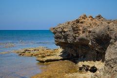 普罗塔拉斯海岸线 免版税库存图片