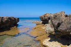 普罗塔拉斯海岸线 库存图片