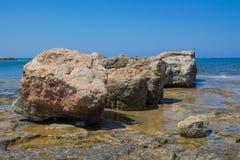 普罗塔拉斯海岸线 免版税库存照片