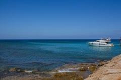 普罗塔拉斯海岸线 库存照片