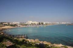 普罗塔拉斯 旅游海滩胜地镇在塞浦路斯 图库摄影