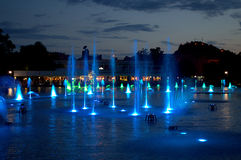 普罗夫迪夫市不可思议的fountais,保加利亚 库存图片