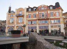 普罗夫迪夫,保加利亚- 2015年11月09日:在histori的老buikldings 免版税库存图片