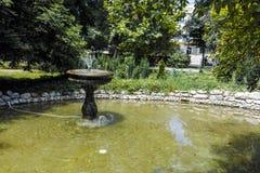 普罗夫迪夫,保加利亚- 2017年6月10日:沙皇西梅昂庭院全景在市普罗夫迪夫, 库存照片