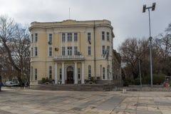 普罗夫迪夫,保加利亚- 2016年12月30日:军事俱乐部大厦在市普罗夫迪夫 库存图片