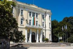普罗夫迪夫,保加利亚- 2017年6月10日:军事俱乐部大厦在市普罗夫迪夫 免版税图库摄影