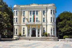 普罗夫迪夫,保加利亚- 2017年6月10日:军事俱乐部大厦在市普罗夫迪夫 库存照片
