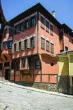 普罗夫迪夫,保加利亚- 2017年6月10日:历史博物馆大厦在普罗夫迪夫老镇  库存照片