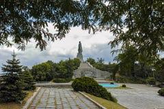 普罗夫迪夫,保加利亚2017年6月11日:叫作阿廖沙的苏联军队的纪念碑在市普罗夫迪夫 库存图片