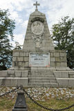 普罗夫迪夫,保加利亚2017年6月11日:对皇帝亚历山大二世的纪念碑Bunardzhik tepe libertadors小山小山的在Plo城市 库存照片