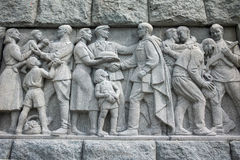 普罗夫迪夫,保加利亚2017年6月11日:苏联军队的纪念碑细节叫作阿廖沙的在市普罗夫迪夫 库存图片