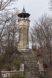 普罗夫迪夫,保加利亚- 2016年12月30日:钟楼中世纪大厦在市普罗夫迪夫 免版税库存照片