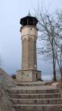 普罗夫迪夫,保加利亚- 2016年12月30日:钟楼惊人的看法在市普罗夫迪夫 库存照片
