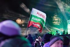 普罗夫迪夫-文化的欧洲首都2019年 库存图片
