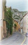 普罗旺斯村庄街道  图库摄影