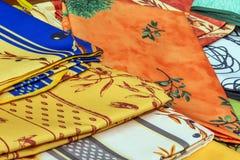 普罗旺斯桌布 免版税库存照片