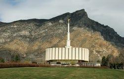 普罗沃犹他摩门教LDS寺庙早期的春天 免版税图库摄影