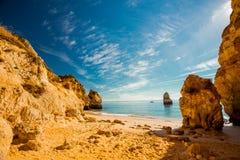 普腊亚做卡米洛,阿尔加威,葡萄牙 免版税库存照片