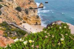 普腊亚做卡米洛,拉各斯葡萄牙 免版税库存图片
