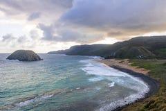 普腊亚做Leao海滩-费尔南多・迪诺罗尼亚群岛, Pernambuco,巴西 库存图片