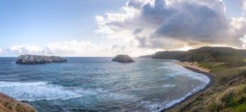 普腊亚做Leao海滩-费尔南多・迪诺罗尼亚群岛, Pernambuco,巴西 库存照片