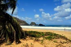 普腊亚做Sancho -费尔南多・迪诺罗尼亚群岛 库存照片