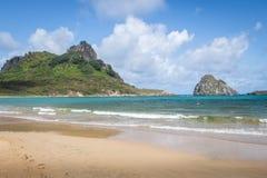 普腊亚做Sueste海滩-费尔南多・迪诺罗尼亚群岛, Pernambuco,巴西 库存图片