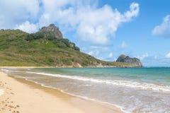 普腊亚做Sueste海滩-费尔南多・迪诺罗尼亚群岛, Pernambuco,巴西 免版税库存图片
