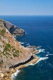 普腊亚在海角Espichel附近做Cavalo在Sedsimbra,葡萄牙 免版税图库摄影