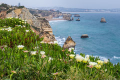 普腊亚在葡萄牙做卡米洛,拉各斯,阿尔加威 免版税库存照片