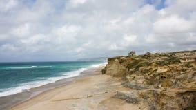 """普腊亚海滩在Ã的del Rei """"bidos,葡萄牙的中心 库存图片"""