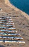 普腊亚da Nazare海滩在Nazare,葡萄牙 图库摄影