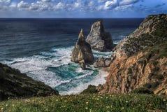 普腊亚da Ursa,葡萄牙 免版税库存照片